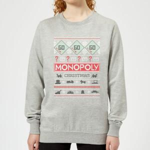 Monopoly Women's Christmas Sweater - Grey