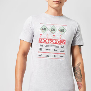 Monopoly Men's Christmas T-Shirt - Grey