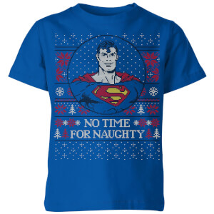 Superman May Your Holidays Be Super Kids' Christmas T-Shirt - Royal Blue
