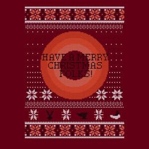Looney Tunes Knit Women's Christmas T-Shirt - Burgundy