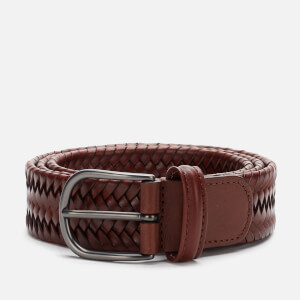 Anderson's Men's Matt Buckle Woven Belt - Brown