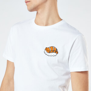Sushi Unisex Embroidered T-Shirt - White