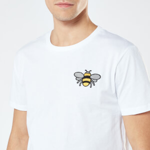 Bee Unisex Embroidered T-Shirt - White