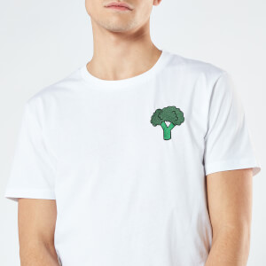 Broccoli Unisex Embroidered T-Shirt - White