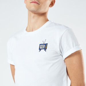 Classic TV Unisex Embroidered T-Shirt - White