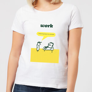 Modern Toss Work Bored Women's T-Shirt - White