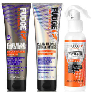 Fudge Clean Blonde Damage Rewind Bundle