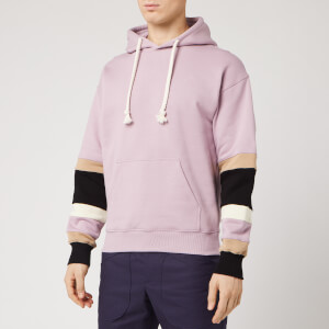 JW Anderson Men's Colour Block Sleeves Hoody - Mauve