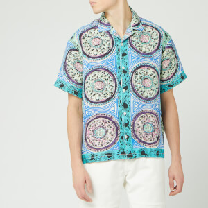 JW Anderson Men's Mystic Paisley Short Sleeve Shirt - Venetian