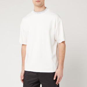 Acne Studios Men's Logo Neck T-Shirt - Optic White