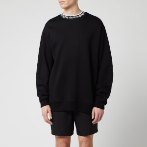 Acne Studios Men's Logo Crewneck Sweatshirt - Black
