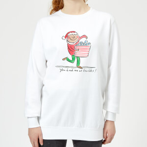 Rosie Brooks You Had Me At Baubles Women's Sweatshirt - White