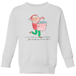 Rosie Brooks You Had Me At Baubles Kids' Sweatshirt - White