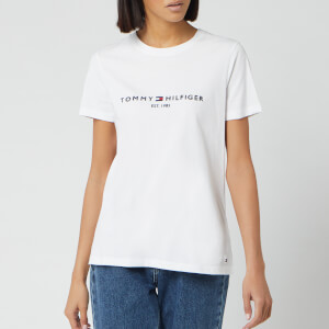 Tommy Hilfiger Women's Essential Hilfiger T-Shirt - White