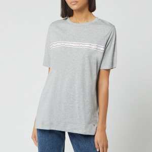 Tommy Hilfiger Women's Raven Crew Neck Top - Light Grey