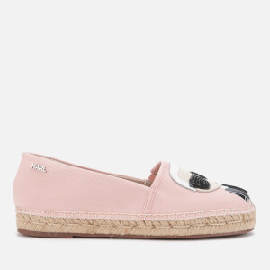 Karl Lagerfeld Women's Kamini Karl Ikonic Canvas Espadrilles - Light Pink