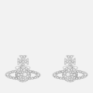 Vivienne Westwood Women's Grace Bas Relief Stud Earrings - Rhodium Crystal