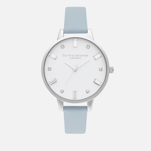 Olivia Burton Women's Bejewelled Watch - Vegan Chalk Blue