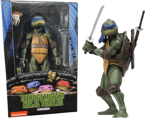"NECA Teenage Mutant Ninja Turtles 7"" Figure 1990 Movie Leonardo"