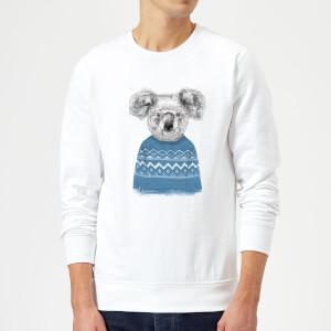 Winter Koala Sweatshirt - White