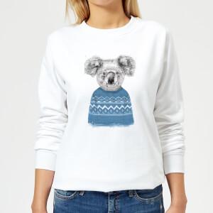 Winter Koala Women's Sweatshirt - White