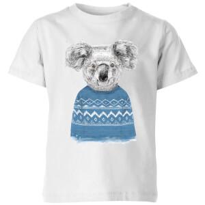 Winter Koala Kids' T-Shirt - White