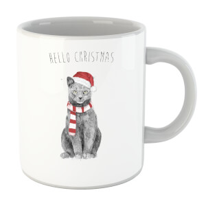 Balazs Solti Hello Christmas Cat Mug