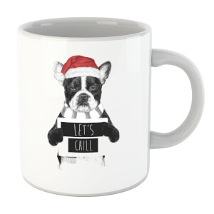 Balazs Solti Let It Snow Frenchie Christmas Mug