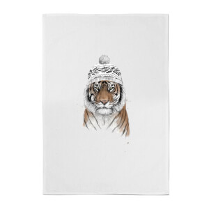 Balazs Solti Siberian Tiger Cotton Tea Towel