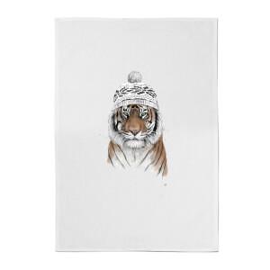 Balazs Solti Siberian Tiger Cotton Tea Towel