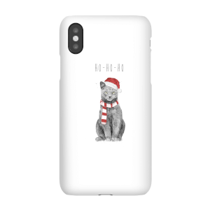 Balazs Solti Ho Ho Ho Christmas Cat Phone Case for iPhone and Android