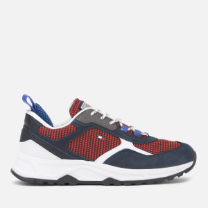 Tommy Hilfiger Men's Fashion Mix Chunky Running Style Trainers - Desert Sky