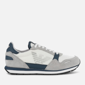 Emporio Armani Men's Running Style Trainers - Plaster/Midnight