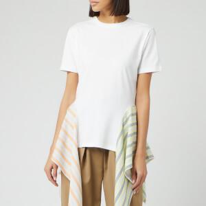 JW Anderson Women's Handkerchief Drape T-Shirt - White