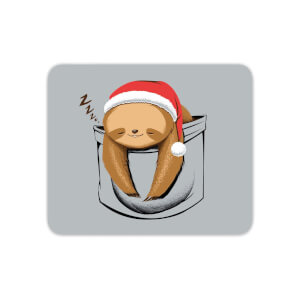 Sloth In A Pocket Xmas Mouse Mat