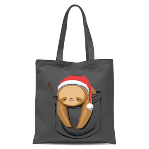 Tobias Fonseca Sloth In A Pocket Xmas Tote Bag - Grey