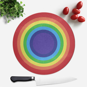 Classic Rainbow Round Chopping Board