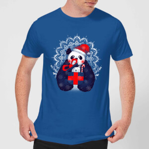 Tobias Fonseca Xmas Panda Men's T-Shirt - Royal Blue
