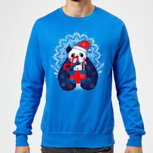 Tobias Fonseca Xmas Panda Sweatshirt - Royal Blue