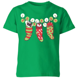 Tobias Fonseca Jingle Meow Kids' T-Shirt - Kelly Green