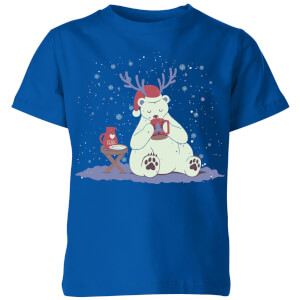 Tobias Fonseca Polar Xmas Eggnog Kids' T-Shirt - Royal Blue