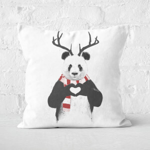Xmas Panda Square Cushion