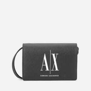 Armani Exchange Women's Logo Crossbody Bag - Black