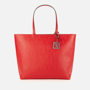 Armani Exchange Women's Shopping Tote Bag - Red