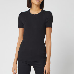Helmut Lang Women's Double Layer T Vintage Slub Rib Vest - Black