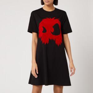 McQ Alexander McQueen Women's Monster Dress - Darkest Black/Rouge