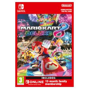 Mario Kart 8 Deluxe + Nintendo Switch Online 12 Months (Family) - Digital Download