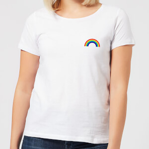 Classic Rainbow Pocket Women's T-Shirt - White