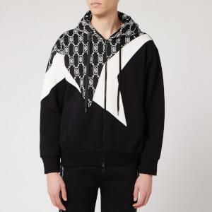 Neil Barrett Men's Monogram Cut and Sew Hoody - Black/White