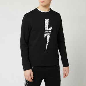 Neil Barrett Men's Graffiti Bolt Sweatshirt - Black